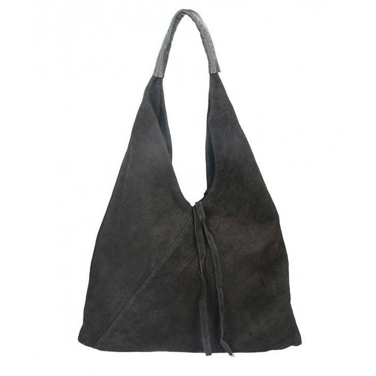 Genuine Leather Maxi Bag 184 black