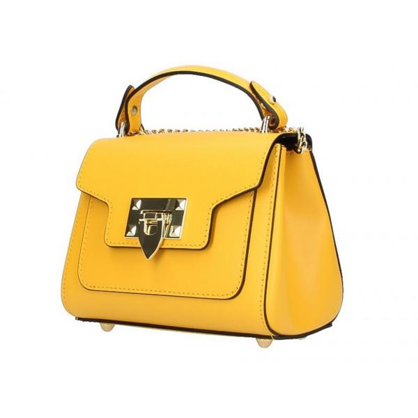 b0e09460d Talianska kožená kabelka na rameno 5322 žltá - MONDO ITALIA s.r.o.