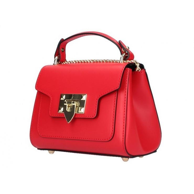 Talianska kožená kabelka na rameno 5322 červená