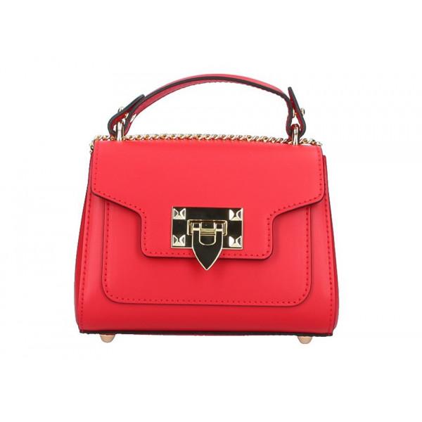1f74175c1 Talianska kožená kabelka na rameno 5322 červená - MONDO ITALIA s.r.o.