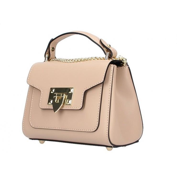 Talianska kožená kabelka na rameno 5322 šedohnedá