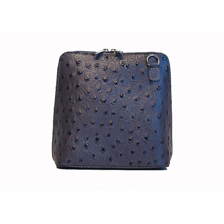 Kožená kabelka na rameno 603 tmavě šedá