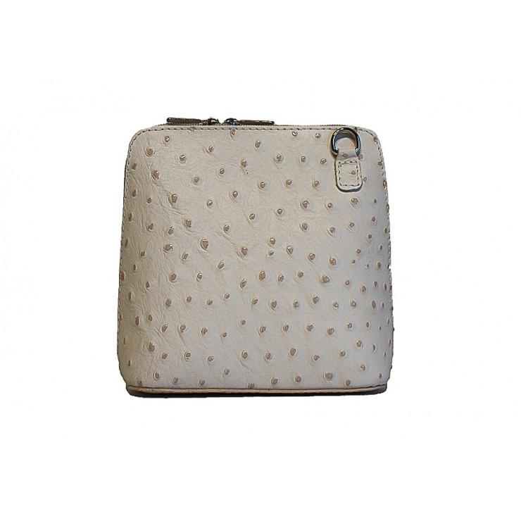 Genuine leather messenger bag 603 beige