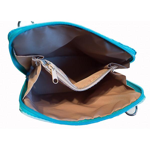 Kožená kabelka na rameno 603 béžová Made in Italy Béžová