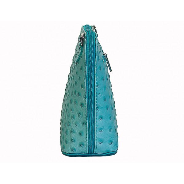 Kožená kabelka na rameno 603 modrá