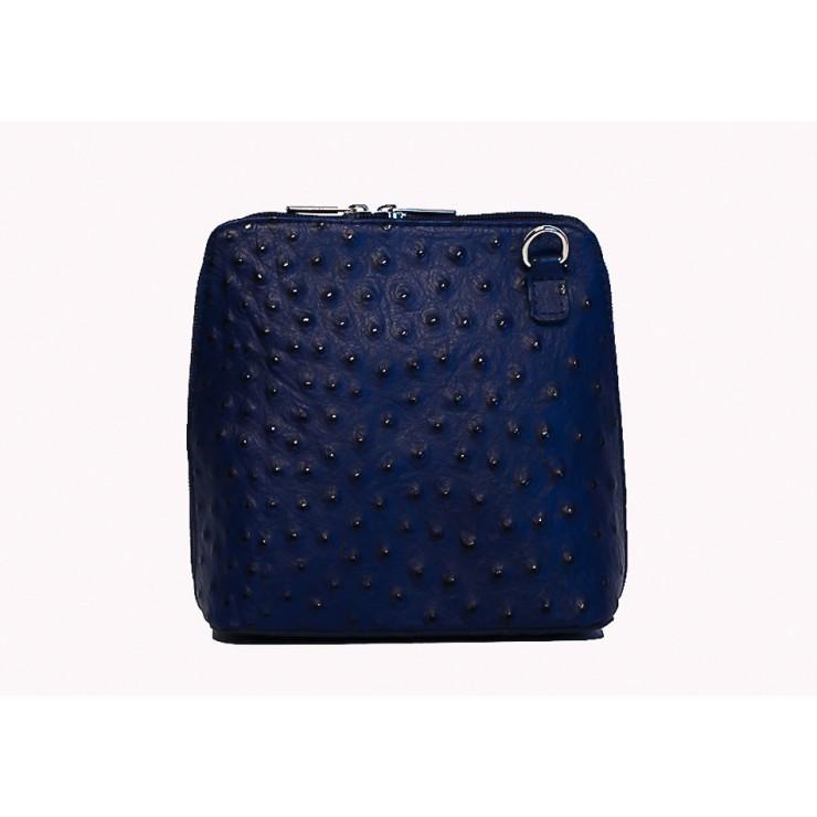 Genuine leather messenger bag 603 blue