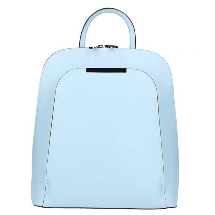 Nebesky modrý kožený batoh 1488