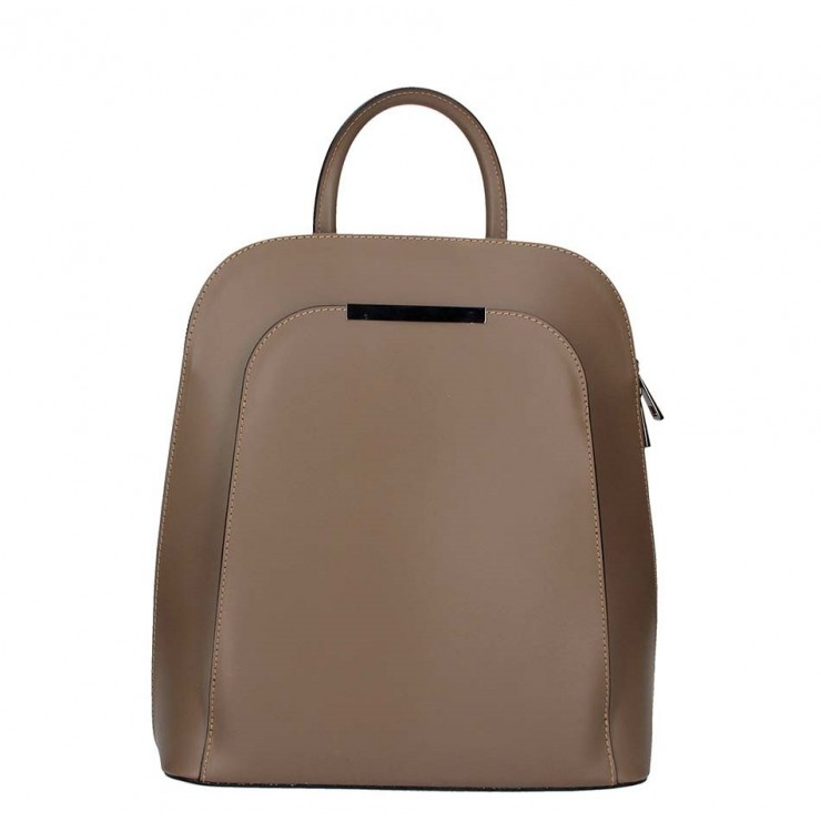 Leather backpack 1488 dark taupe