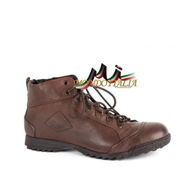 Hnědá kožená obuv 553 Easy Going
