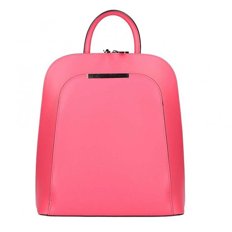 Fuchsia kožený batoh 1488