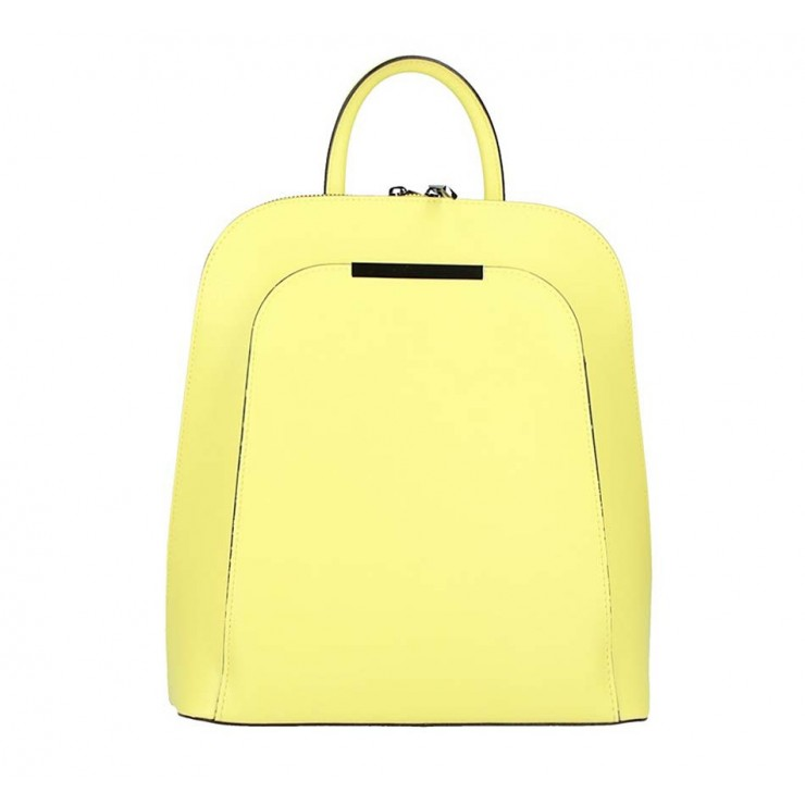 Leather backpack 1488 yellow