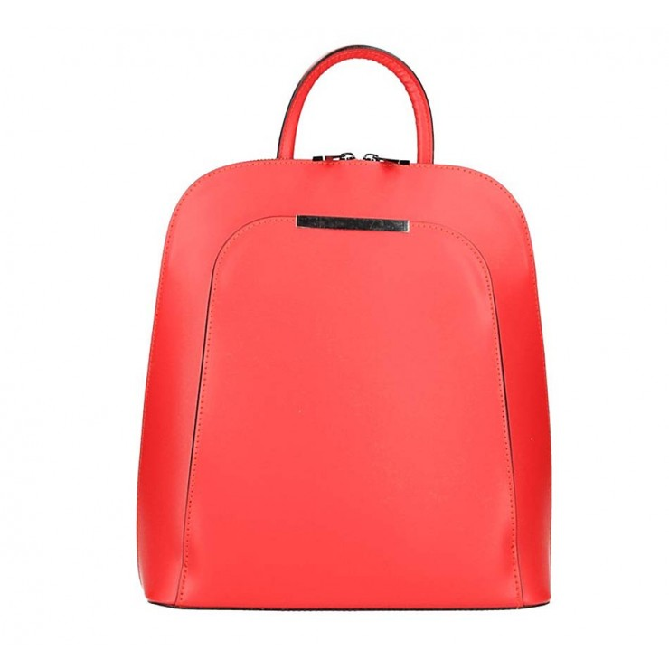 Kožený batoh 1488 červený Made in Italy