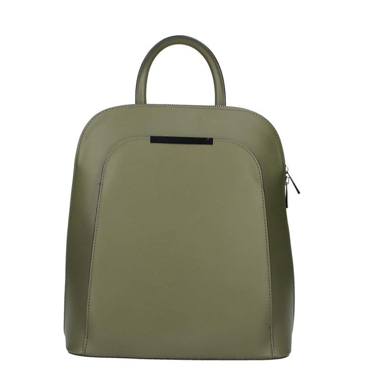 Leather backpack 1488 military green
