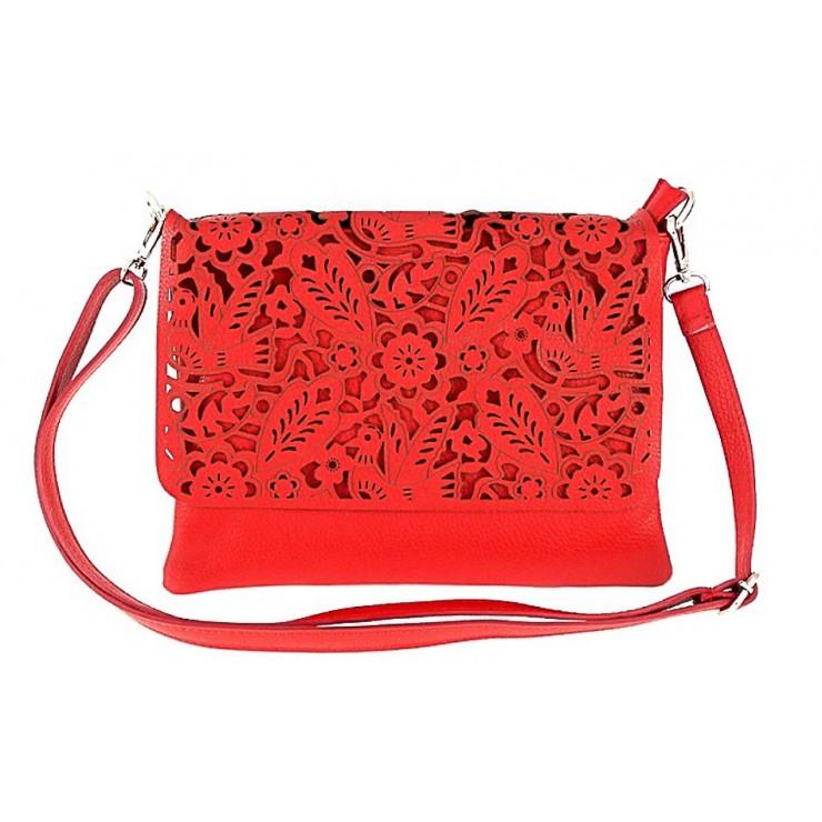 Genuine Leather shoulder bag 546 red