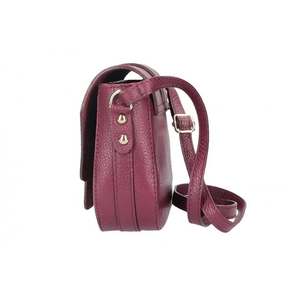 Ružová talianska kožená kabelka na rameno 870A