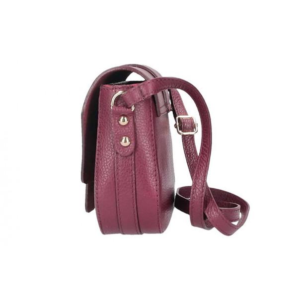 Šedohnedá talianska kožená kabelka na rameno 870A