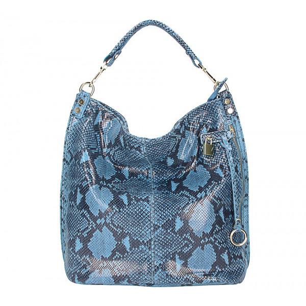Kožená kabelka s hadím motívom 496 jeans
