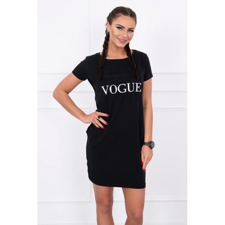 Šaty s vreckami VOGUE MI8833 čierne