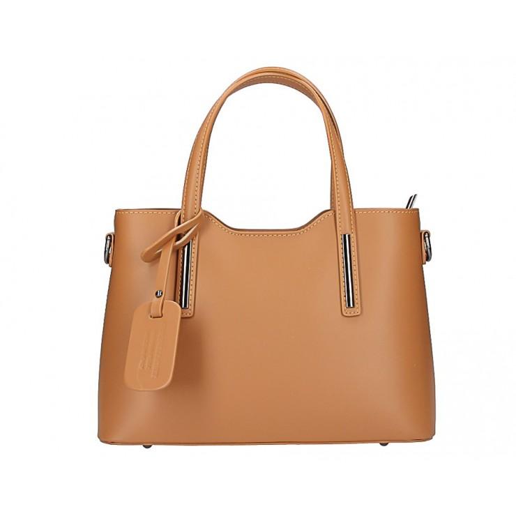 Koňaková kožená kabelka do ruky 5325