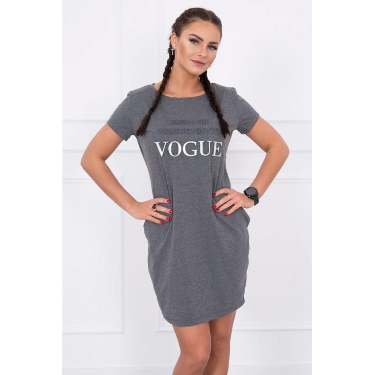 Šaty s kapsami VOGUE MI8833 grafitové