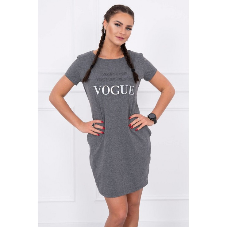 Šaty s vreckami VOGUE MI8833 grafitové