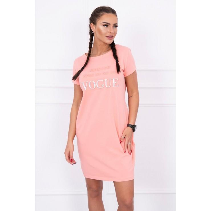 Šaty s kapsami VOGUE MI8833 meruňkové