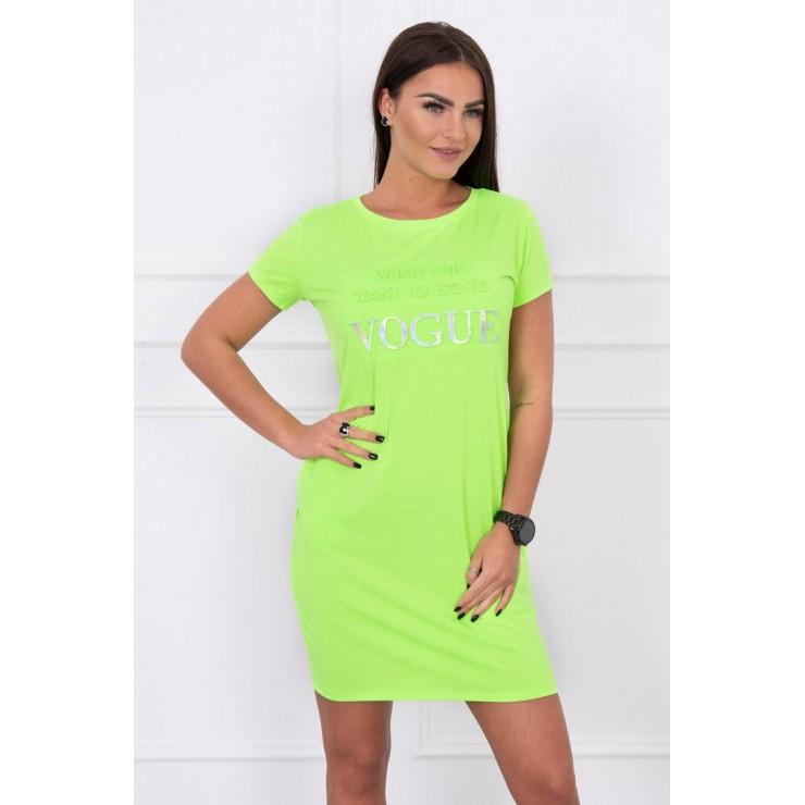 Šaty s vreckami VOGUE MI8833 neónovo zelené