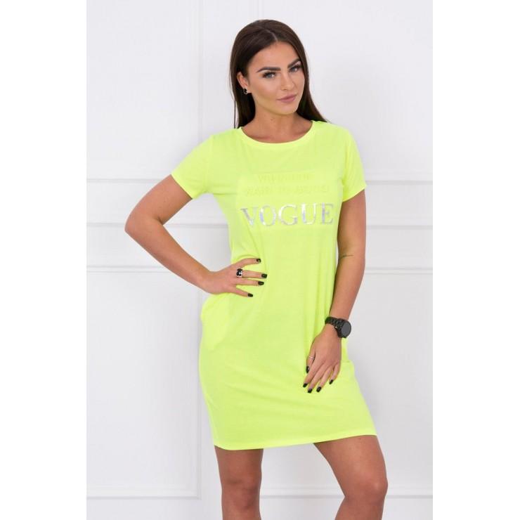 Šaty s kapsami VOGUE MI8833 neonově žluté