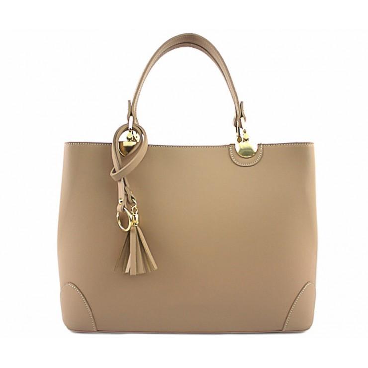 Genuine Leather Handbag 7 taupe