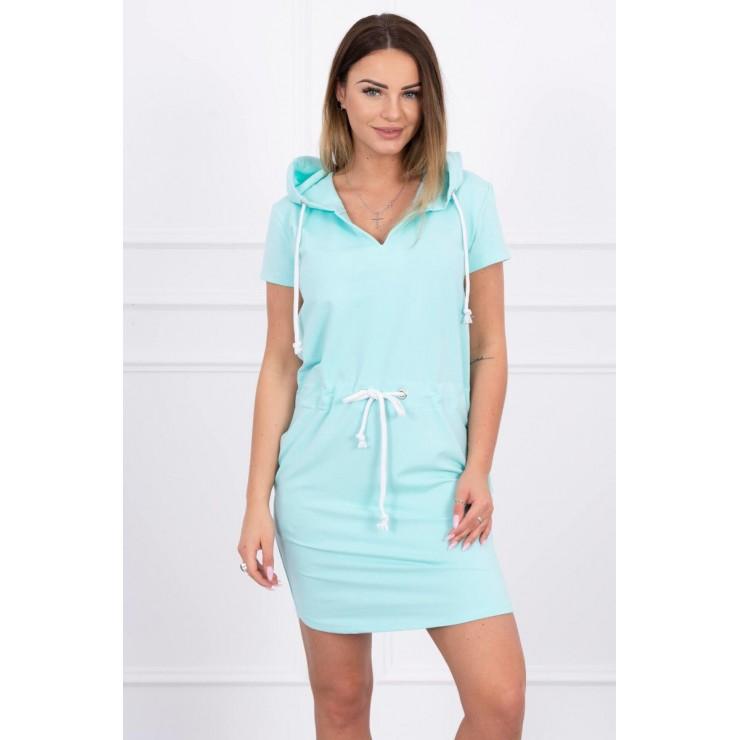 Dress with pockets and hood MI8982 mint