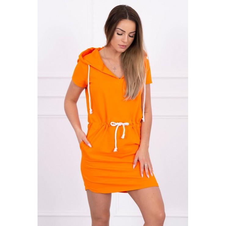 Šaty s vreckami a kapucňou MI8982 oranžové