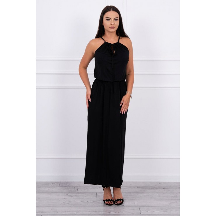Long dress with slit MI8893 black