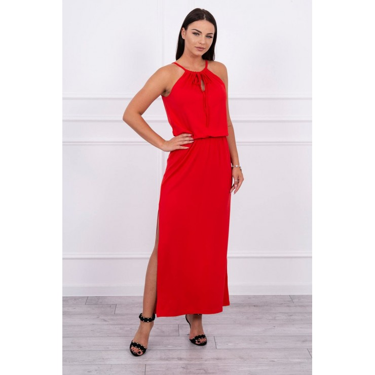 Long dress with slit MI8893 rot