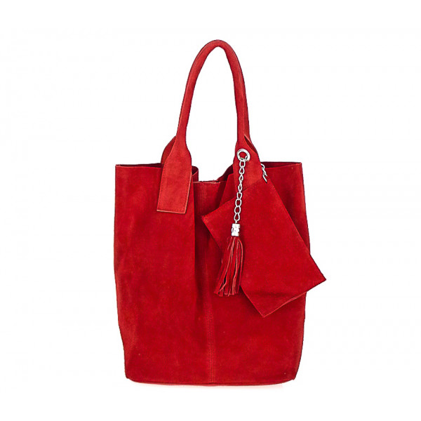 Genuine Leather Maxi Bag  804 red