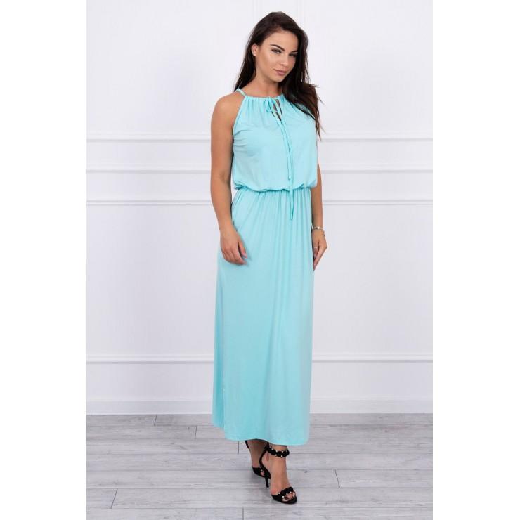 Long dress with slit MI8893 mint