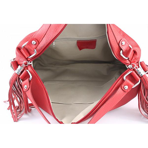 Kožená kabelka 120 šedohnedá Made in Italy