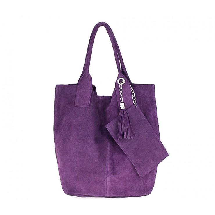 Genuine Leather Maxi Bag  804 violet