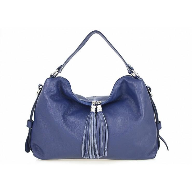 Kožená kabelka 120 modrá