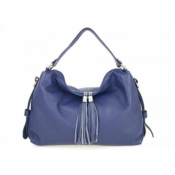 Genuine Leather Handbag 120 blue