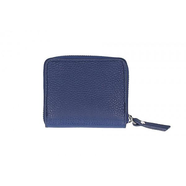 Dámska kožená peňaženka 571 modrá Made in Italy Modrá