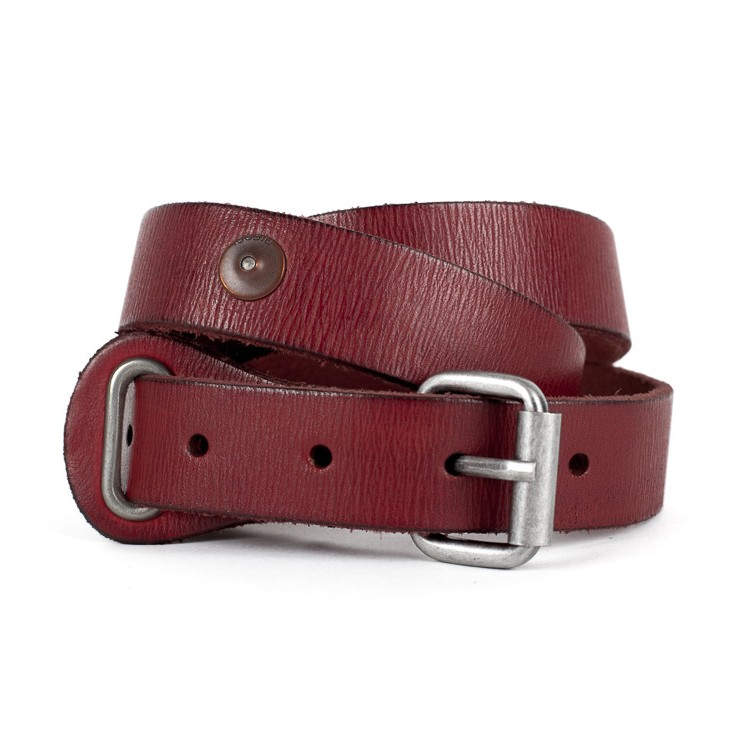 Women leather belt 1047 red Diesel