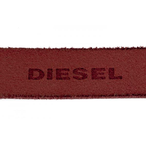 Dámsky kožený opasok 1047 červený Diesel Červená 95 cm