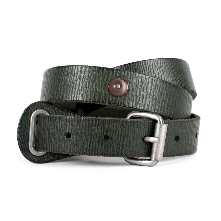 Women leather belt 1047 green Diesel