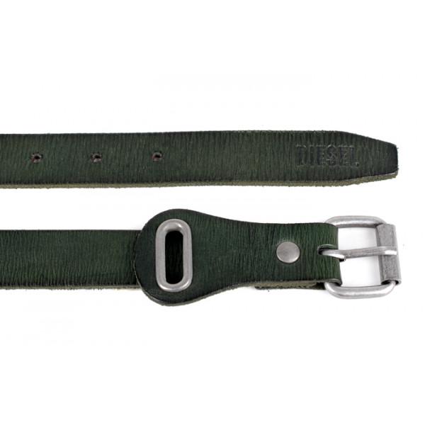 Dámsky kožený opasok 1047 zelený Diesel Zelená 90 cm