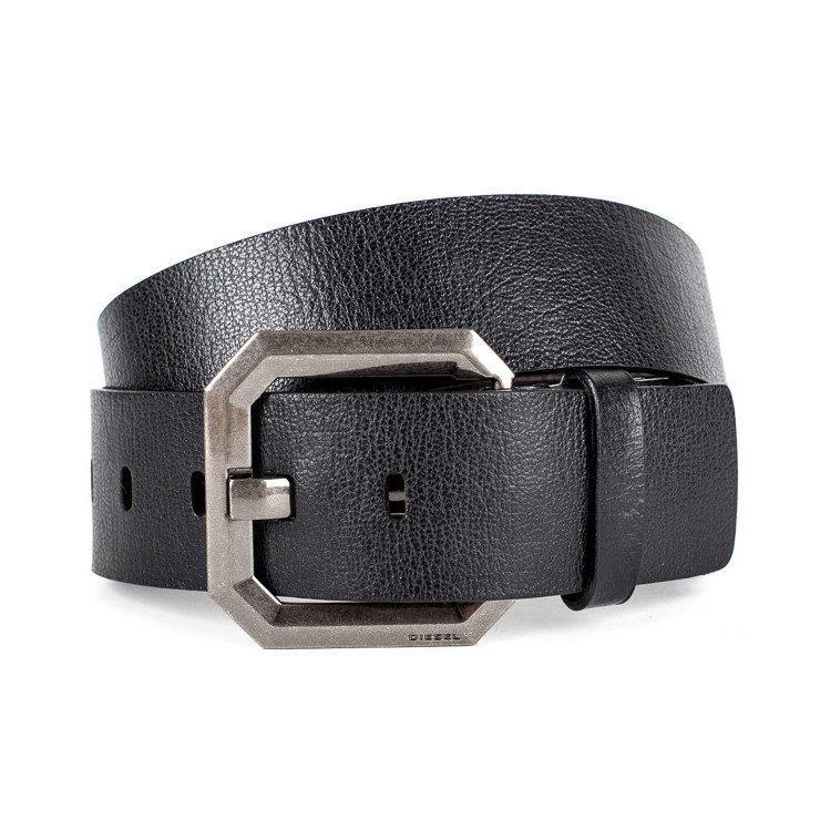 Women leather belt 1042 black Diesel