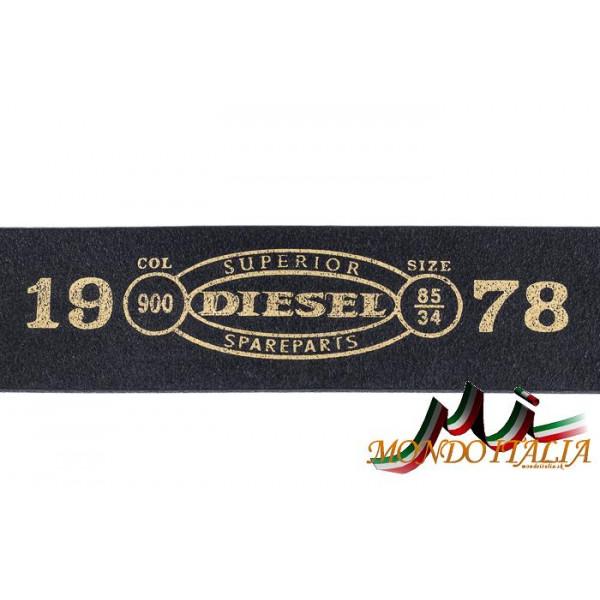 Dámsky kožený opasok 1046 čierny Diesel Čierna 90 cm