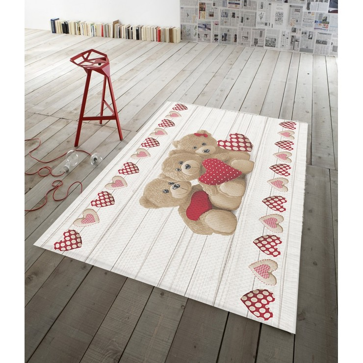 Digital Carpet Teddy bear red