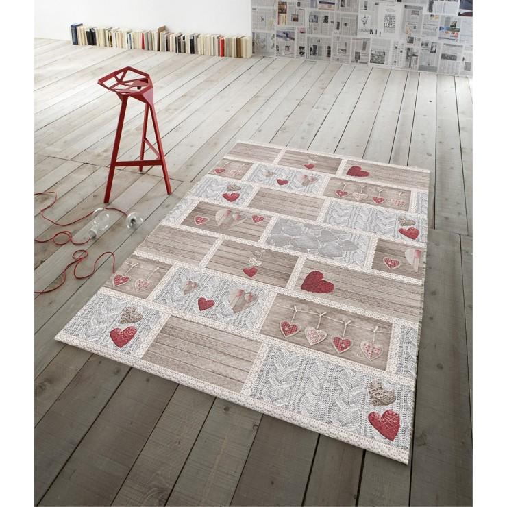 Digital Carpet Shabby in love red
