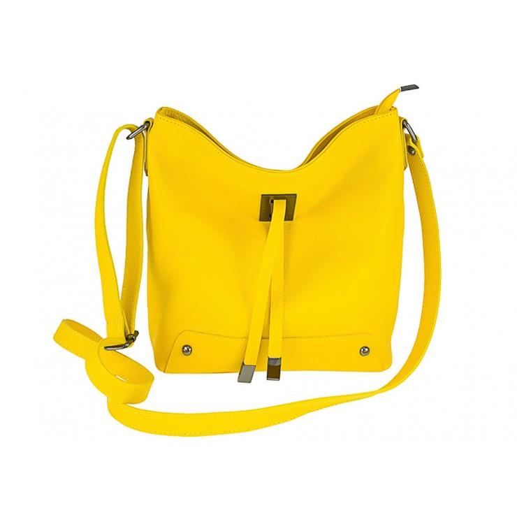 Kožená kabelka na rameno 825 žltá