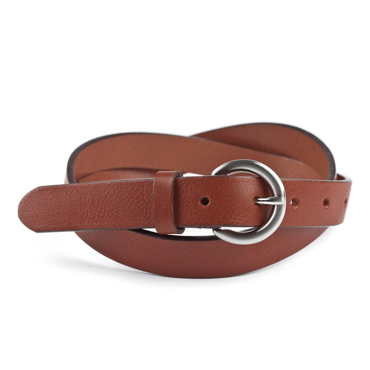 Women leather belt 950 brown Lisa Romeo